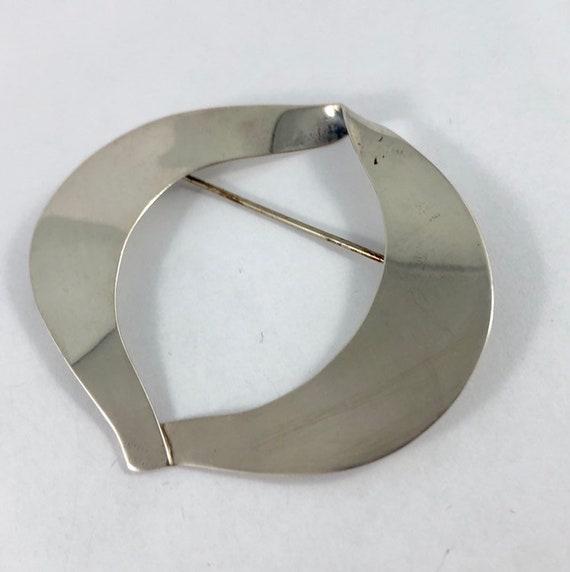 BIRKS Sterling Modernist mid-century brooch, 925 m