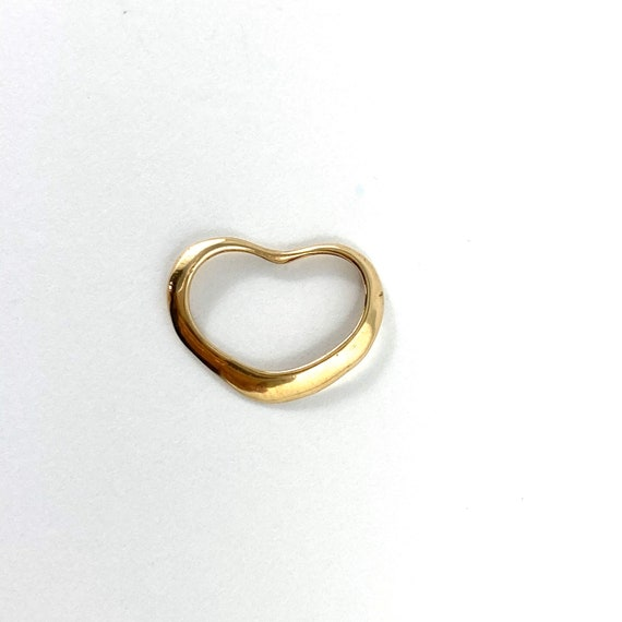 10K floating open Heart Charm, pendant or attachme