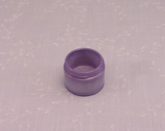 Rare Antique Purple Milk Glass Jar. Small Lavender Colored Old Victorian Cosmetic Cream or Medicine Ointment Bottle w Marbling Slag. Sgjar5