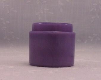Rare Purple Milk Glass Small Jar. Antique Bottle w Slight Marbling Slag. Embossed w Menley – James Limited New York - London. Sgjar18