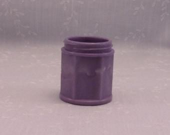 Rare Antique Purple Milk Glass Jar. Eggplant or Dark Lavender Colored Victorian Apothecary Bottle w 6 Panels & Slight Marbling Slag. Sgjar1