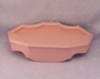 Vintage 1992 Burwood Hanging Wall Shelf 3263 A. Collectible Wall Décor Accent in Original Faux Wood Pink Mauve Color. Made in USA. Rdxa