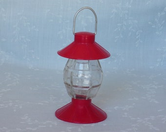 1940s Figural Glass Candy Container or Bottle. Vintage Marked J H Millstein Plastic Toy Lantern w Molded Globe & Wire Bale. Ua3a ea448