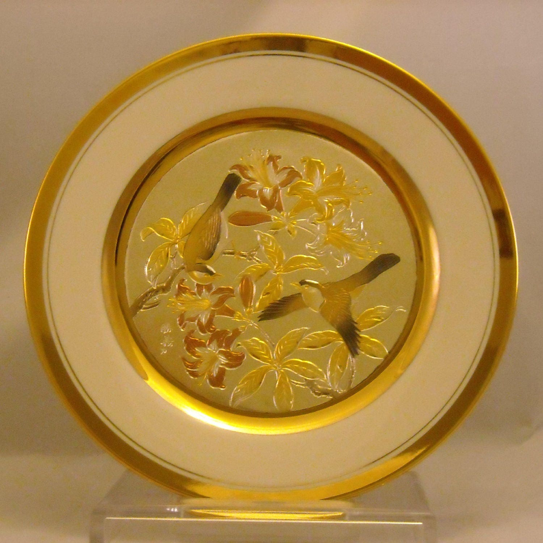 The Art of Chokin Plate. 9 Inch Japanese Metallic Art Dish.   Etsy
