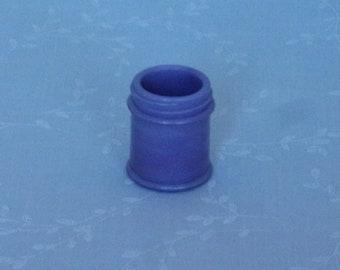 Antique Rare Lavender Milk Glass Small Jar. Light Purple Bottle w Slight Marbling Slag. Embossed w Musterole Cleveland on Bottom. uajar28