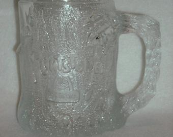 Vintage Bedrock Mug. RocDonald Tree Mendous. McDonalds Flintstones 1994 Coffee Cup. Textured Promotional Novelty Glass. TV Cartoon. nLgbu