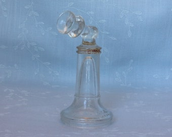 Rare 1920s Pressed Glass Candy Container. Vintage Figural Victory Flat Top Hinge Candlestick Toy Telephone w VG Mark & 4 Dots. Uf8a ea737