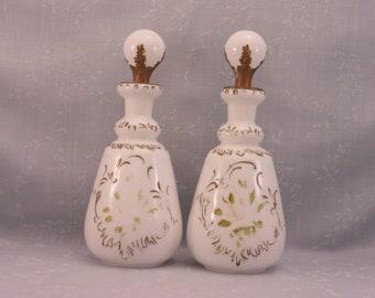 Milk Glass Bottles White