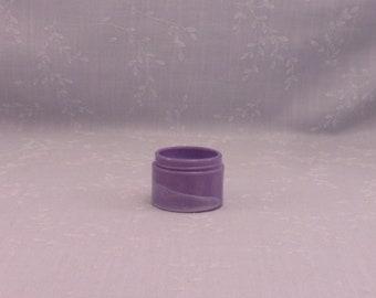 Rare Antique Lavender Milk Glass Jar. Small Purple Colored Old Victorian Cosmetic Cream or Medicine Ointment Bottle w Marbling Slag. Sgjar4