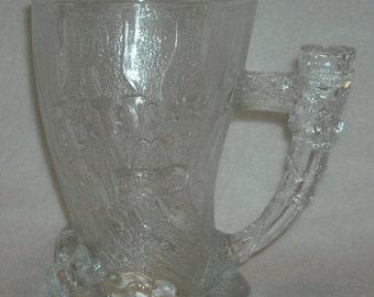 Vintage Bedrock Mug. 1994 RocDonald Mammoth. McDonalds Promo Advertising Novelty Flintstones Heavy Coffee Cup w Elephant Tusk Handle. nLgau