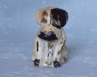 1950s Painted Figural Clear Glass Candy Container & Bath Salts Holder. Vintage Toy Hound Pup without Hat, Poochie, or Mopey Dog. Uc7b ea183