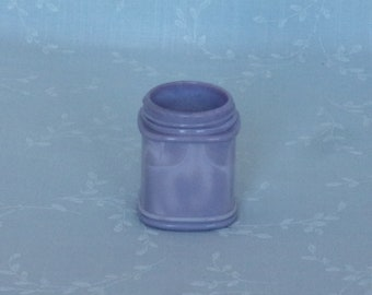 Antique Small Purple Milk Glass Jar. Rare Lavender Colored Old Victorian Square Apothecary or Cosmetic Cream Bottle w Marbling Slag. tLjar25