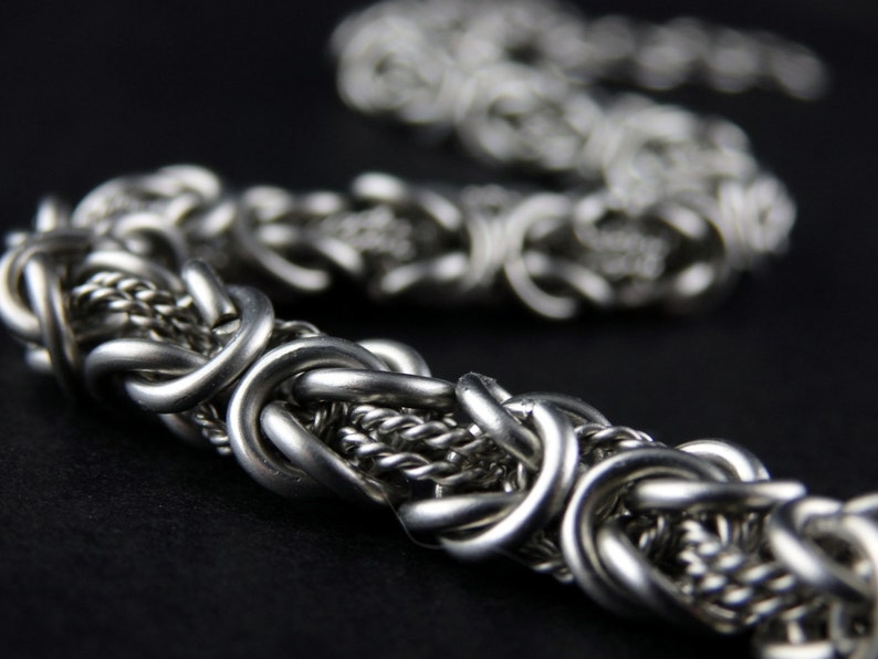 Filigree Chainmaille Byzantine Surgical Steel Bracelet