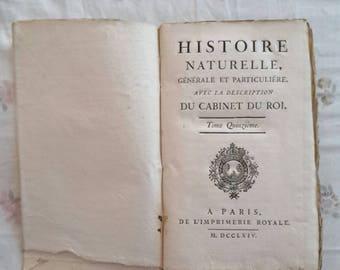 Book ' Histoire Naturelle ' century ' 700