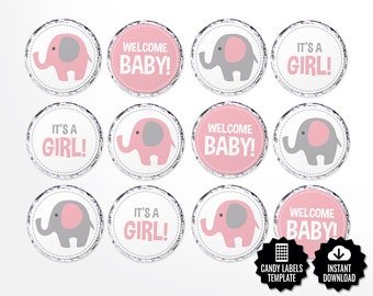 Safari Candy Labels Printable Round Stickers 0 75 Inch Etsy