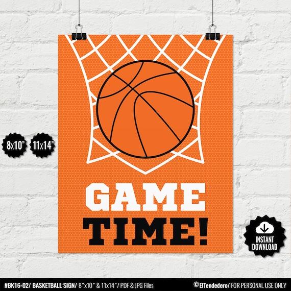 8bfe6a7a64e60 Basketball Kids Wall Art. Game Time Poster. Boys Bedroom Decor. Printable  Sports Children Room Sign, Digital Print. JPG PDF Digital Download