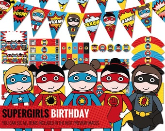 Supergirl Birthday Decorations Package