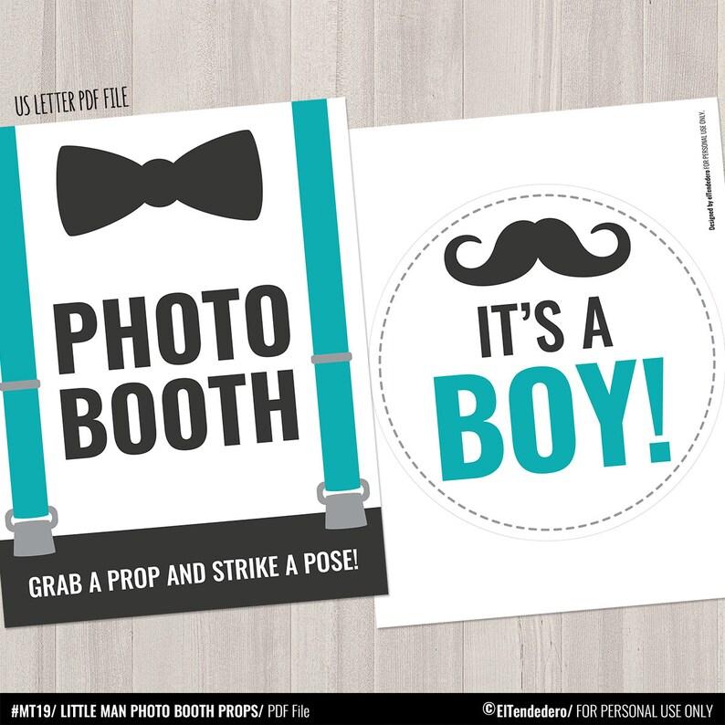 Gentleman Mustache Photo Accesories Turquoise Little Mister Boy Shower Props Teal Little Man Photo Props Baby Shower Photo Booth Props