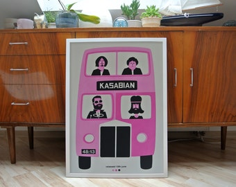 Kasabian | A2 screenprint | limited edition of 30