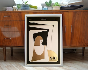 SIA | A2 screenprint | limited edition of 50 | GOLD edition!