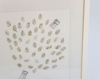 Champagne Celebration Fingerprint Guestbook