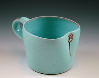 Medium sized mug with turqouise glaze