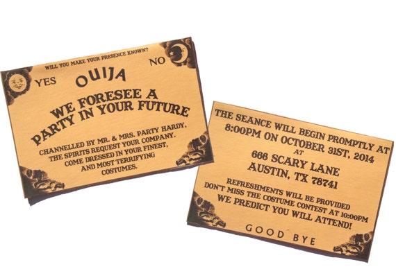 Custom Invitation Halloween Wedding Birthday Party Ouija