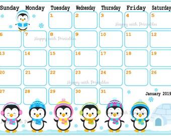 Cute Calendar Etsy