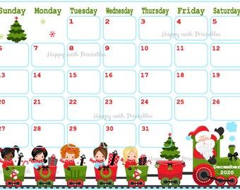 December calendar | Etsy