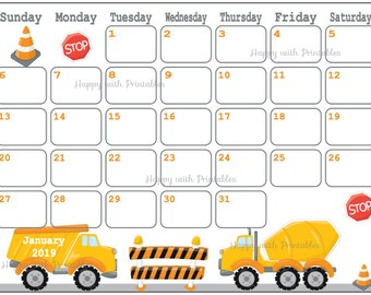 Calendar January 2019 Cute Penguin Planner Printable Cute Etsy