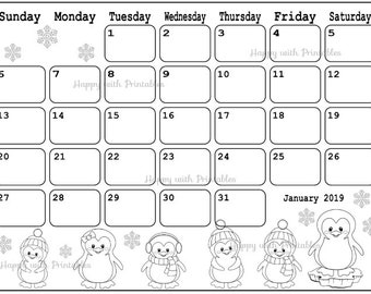 calendar january 2019 coloring page planner printable stamps planner coloring page theme january 2019 planner cute 2019 calendar