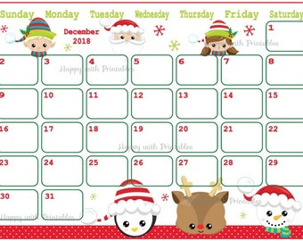 50 off calendar december 2018 cute christmas planner printable planner christmas kawaii theme december 2018 planner christmas