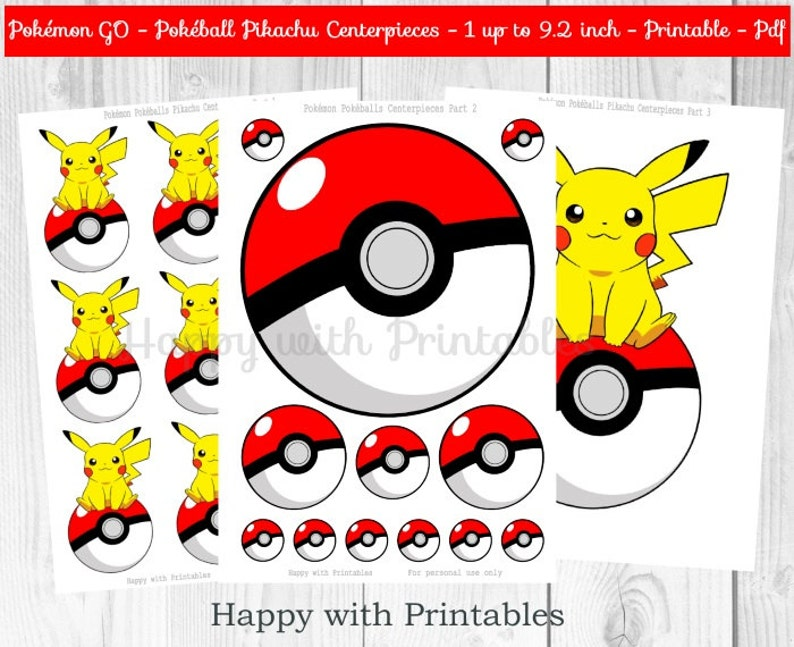 picture relating to Printable Pokeball identify Pokemon Shift Pikachu Centerpieces - Poke Centerpieces - Pokemon Transfer - Pikachu - Pokemon Centerpieces - Pokemon get together - Pokémon printable
