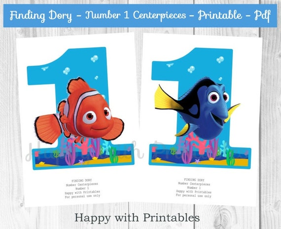Finding Dory Number 1 Centerpieces Dory Centerpieces