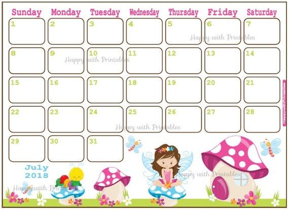 calendar july 2018 summer planner printable cute planner