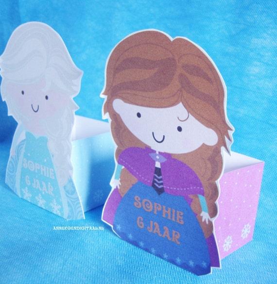 Items Similar To Printable Frozen Anna En Elsa Traktatie Disney