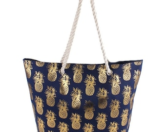Starfish Fashion Heavy Duty Palm Coast Canvas Tote Bag Can be Personalized or Monogrammed