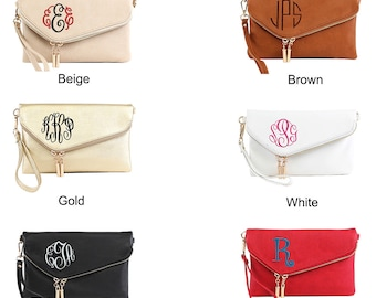 Monogrammable Envelop Clutch Crossbody Bag b5fc35671e39c