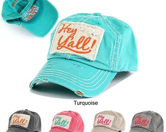 Hey Y all! Distressed Cotton Hat e07ffcb77815