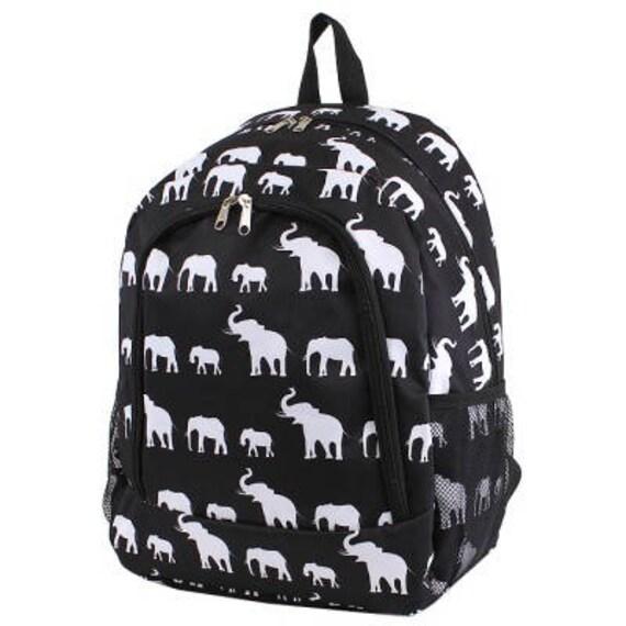 Éléphant Monogram sac à dos en sac à dos, sac à dos personnalisé, monogramme cartable, sac à dos de garçons, rose sac à dos, sac à dos en les enfants, l'école