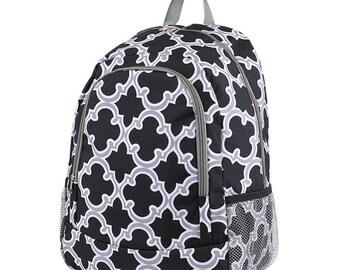 Quatrefoil Backpack,Personalized Backpack, monogrammed backpack, back to school, school bag, girls backpack, kids backpack, gift for her