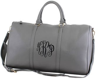 Leather Around Duffle Bag, monogram duffle bag, duffle bag, overnight bag, personalized duffle, travel bag, weekender bag, personalized