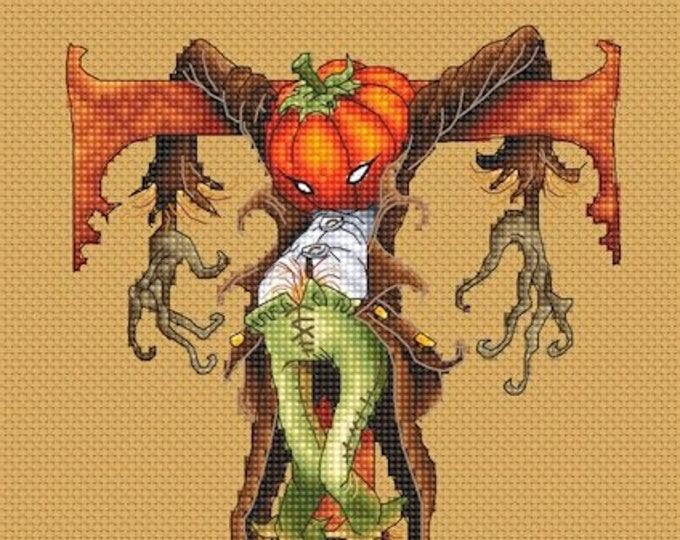Cross Stitch Chart Trick or Treat Halloween by Pascal Moguerou Fantasy Art