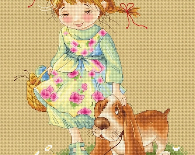 Good Boy - Katerina Babok Girls Cross Stitch and Needlepoint Chart Pattern