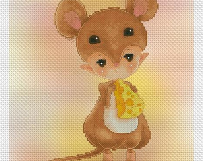 Mouse Baby Mitzi Sato-Wiuff - Cross stitch Chart Pattern