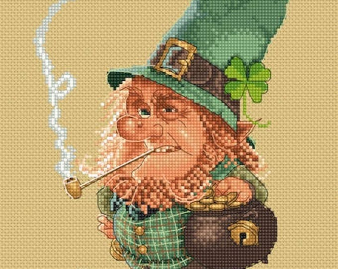 Cross Stitch Chart Leprechaun - Art of Jean-Baptiste Monge