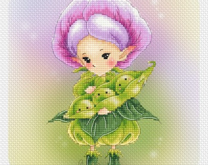 Soybean Sprite Mitzi Sato-Wiuff - Cross stitch Chart Pattern