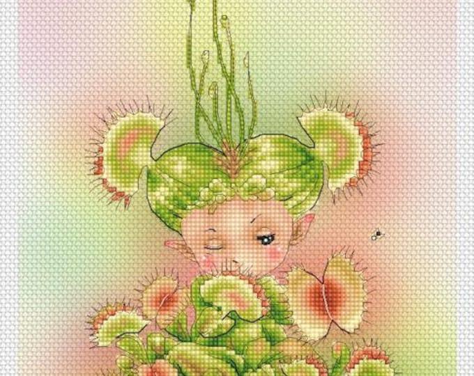 Venus Flytrap Mitzi Sato-Wiuff - Cross stitch Chart Pattern