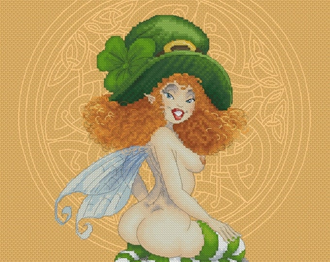 Cross Stitch Chart Irish Fairy by Pascal Moguerou