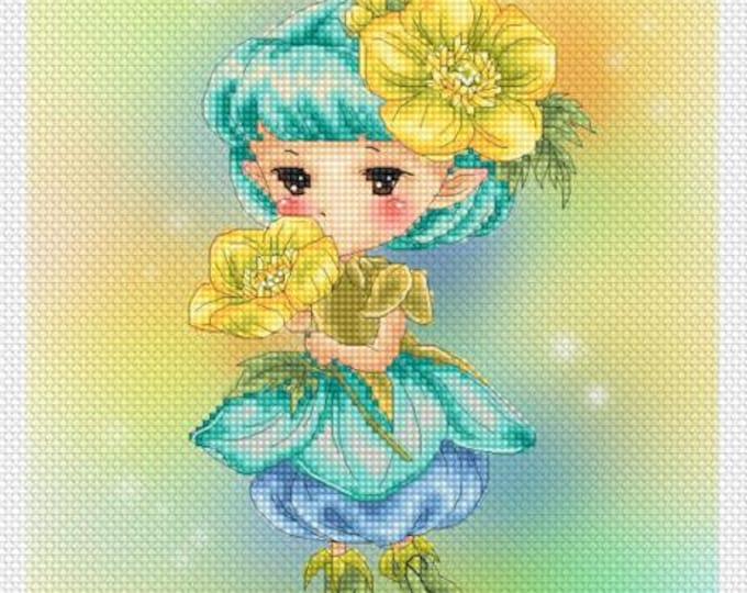 Buttercup Sprite Mitzi Sato-Wiuff - Cross stitch Chart Pattern